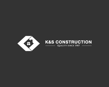 K&S construction logo design
