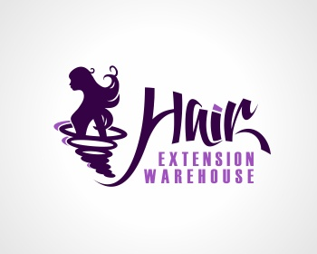 Hair Extension Warehouse logo design