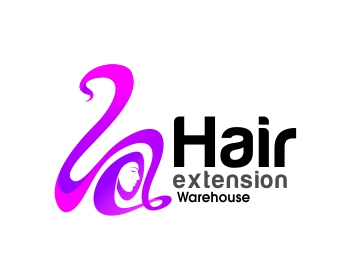 Logo design entry number 69 by x zhire hair extension warehouse