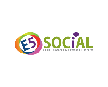 Technology logo design for E5 Social