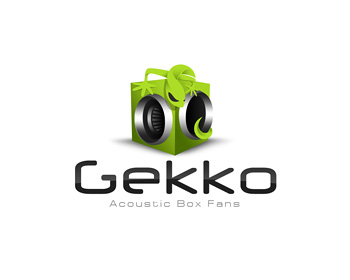 Gekko Acoustic Box Fans logo design