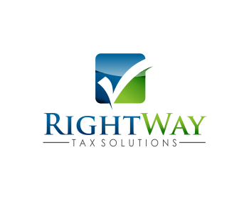 RightWay Tax Solutions logo design
