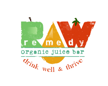 Raw Remedy Organic Juice Bar logo design