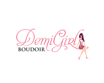 Demi Girl Boudoir logo design