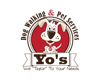 dog walking and pet sitting service logo design