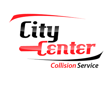 city center collision serivices logo design