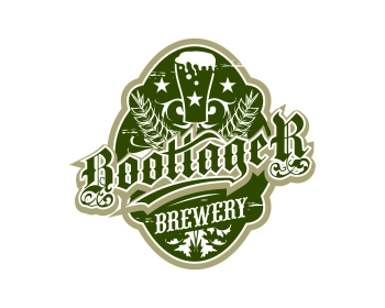 Bootlager Brewery logo design