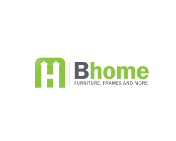 B home logo design