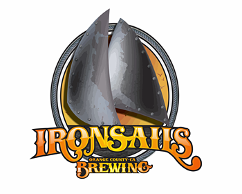 IRON SAILS BREWING logo design