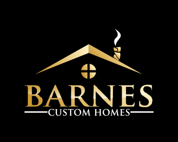 Barnes Custom Homes logo design