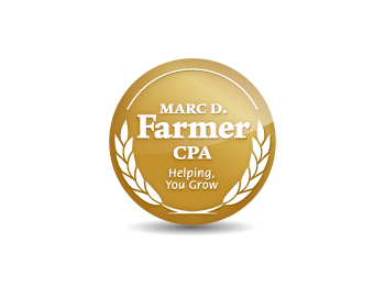 Marc D. Farmer, CPA logo design