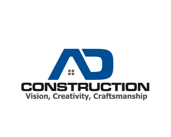 AD Construction logo design