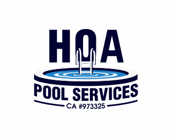 HOA Pool Services logo design