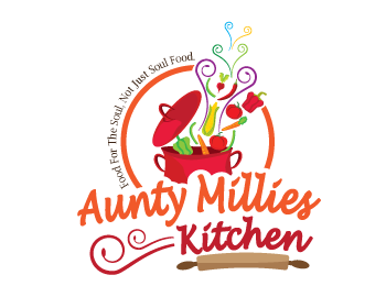 Logo design entry number 35 by peg770 aunty millies for Kitchen decoration logo