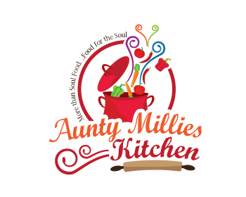 Logo design entry number 66 by peg770 aunty millies for Kitchen decoration logo