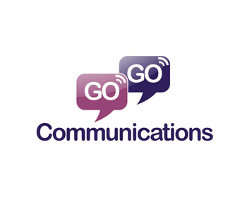 GoGo Communications logo design