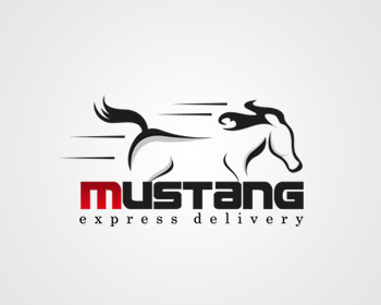 Mustang Express Delivery logo design