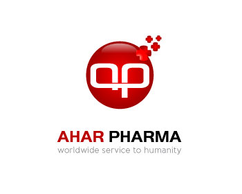 AHAR Pharma logo design