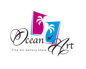 Oceans of Art logo design