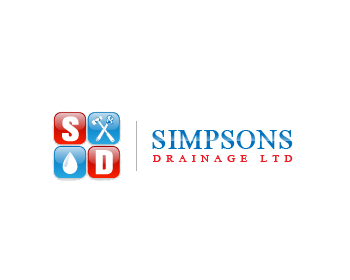 Simpsons Drainage LTD logo design