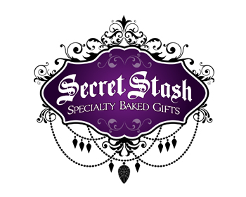 Secret Stash - Specialty Baked Gifts logo design