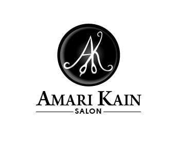 Amari Kain Salon logo design