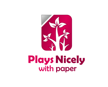 Plays Nicely with Paper logo design