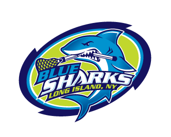 LIT Blue Sharks logo design