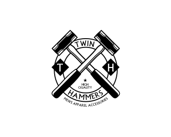 Twin Hammers logo design