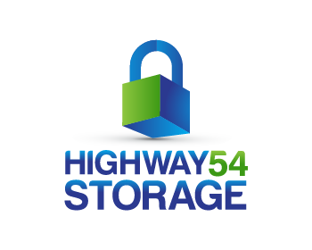 Highway 54 Storage logo design