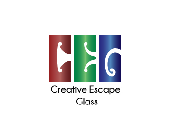 Creative Escape Glass logo design