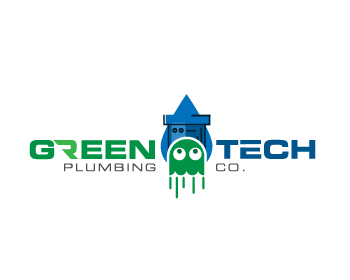 Green Tech Plumbing Co. logo design