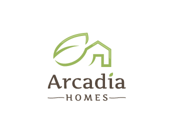 Arcadia Homes logo design