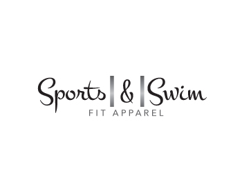 sports and swim fit apparel logo design