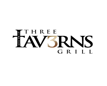 Logo design for Three Taverns Grill or Three Taverns