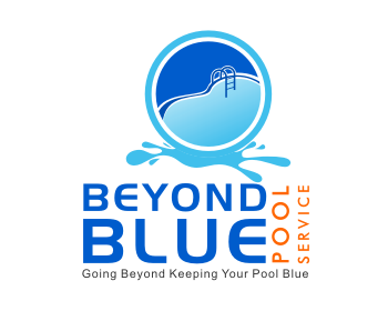 Beyond Blue Pool Service logo design