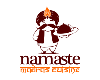 Logo design for Namaste Madras Cuisine