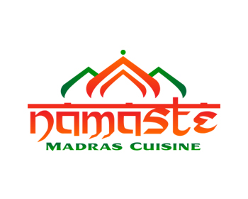 Restaurant logo design for Namaste Madras Cuisine