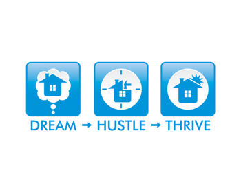 Dream. Hustle. Thrive logo design