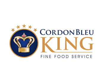 Cordon bleu King logo design