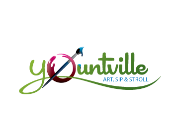 Yountville Art, Sip & Stroll logo design