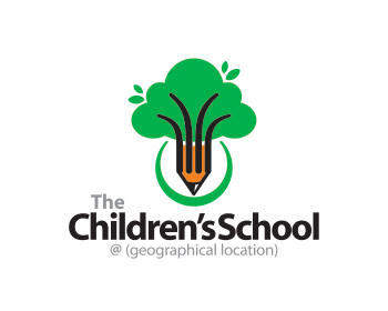 The Children's School logo design