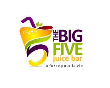 THE BIG FIVE Juice Bar logo design