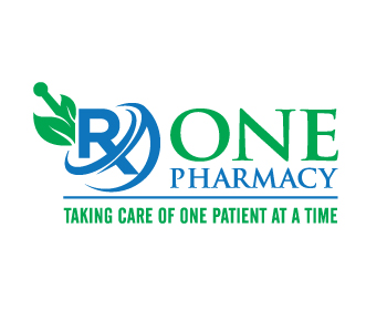 Rx One Pharmacy logo design