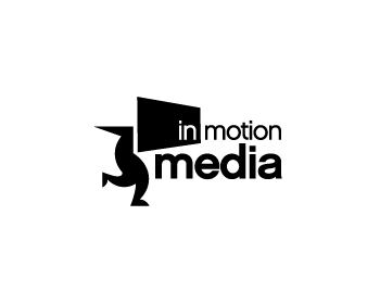 In-motion-media logo design