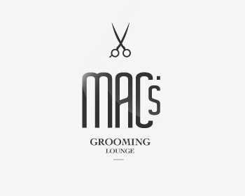 Mac's Grooming Lounge logo design