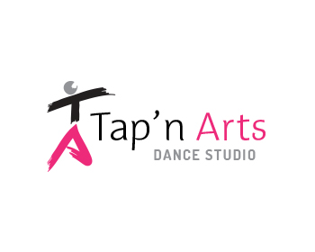 Tap 39 n arts dance studio logo design contest logo arena for Porte arts and dance studio