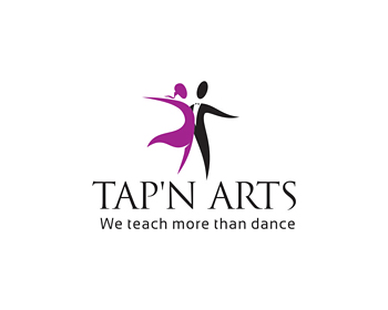 Tap 'n Arts Dance Studio logo design