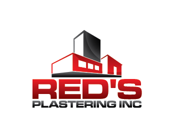 Red's Plastering Inc logo design
