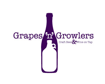 Grapes n Growlers logo design
